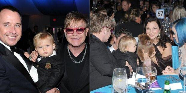 Elton John: Mit seinem Sohn zur Oscar-Party