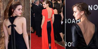 Sexy back! Emma Watson zeigt ihren Rücken