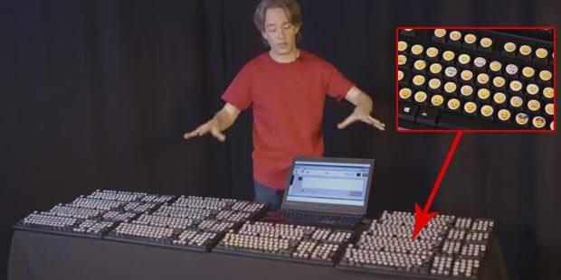 Alle Emojis: Irrste Tastatur der Welt