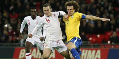 England schlägt Brasilien zuhause 2:1