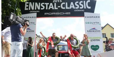 Ennstal Classic: Sieger rammten Kuh