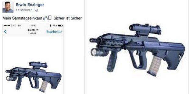 FPÖ-Politiker postet Foto von Sturmgewehr
