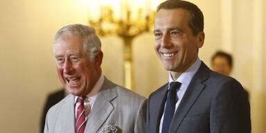 Prinz Charles bei Kanzler Kern