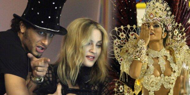 Madonna feiert mit Jesus Karneval in Rio