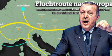 Erdogans TV liefert Migranten Routen bis Köln