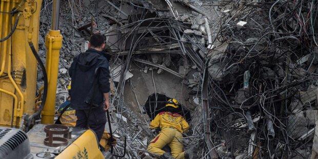 46 Tote bei Hauseinsturz in Taiwan