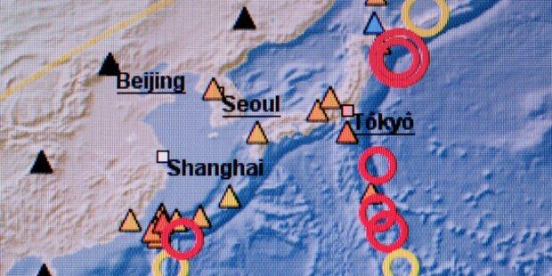 Starkes Erdbeben erschüttert Japan