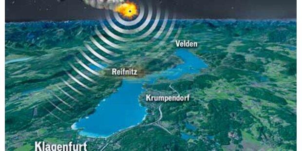Kärntner Erdbeben war ein Meteorit