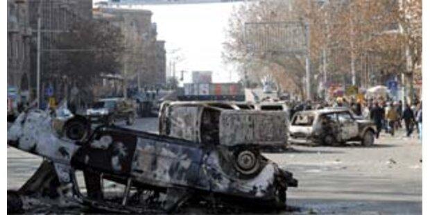 In Armenien endet nach Unruhen Ausnahmezustand