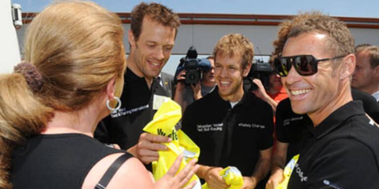 """Vettel und Wurz """"überfielen"""" Autofahrer"""