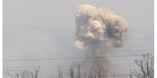 Waffendepot in Usbekistan flog in die Luft