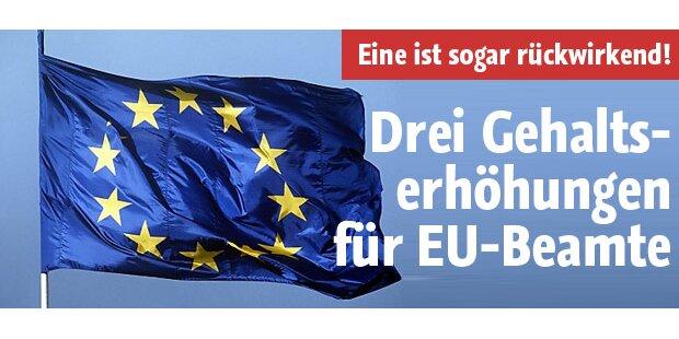Drei Gehalts-Erhöhungen für EU-Beamte?