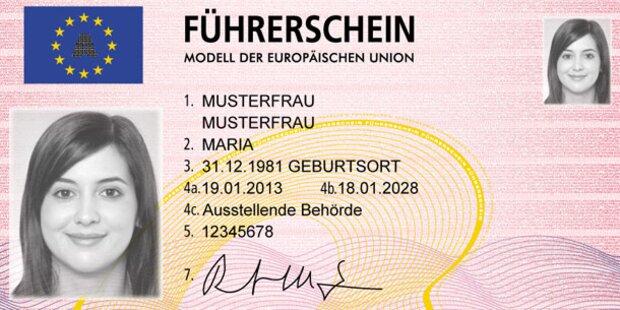 Befristet sicher: Neue EU-Führerscheine