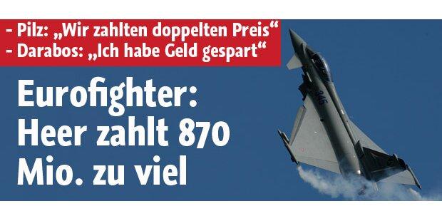 Eurofighter: Heer zahlt 870 Mio. zu viel