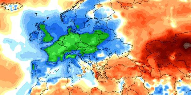 In ganz Europa ist es zu kalt