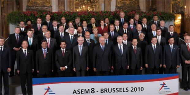 Europa und Asien in Kernfragen uneins