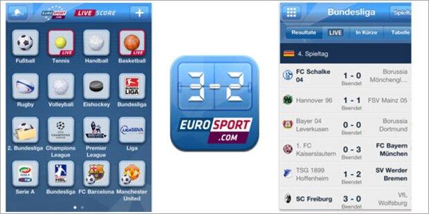 Eurosport bringt Gratis-Livescore-App
