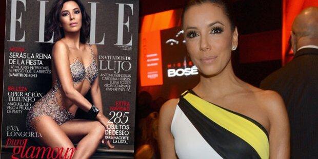 Eva Longoria fast nackt am Elle-Cover