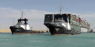 400 Schiffe hingen fest: Suezkanal jetzt wieder frei