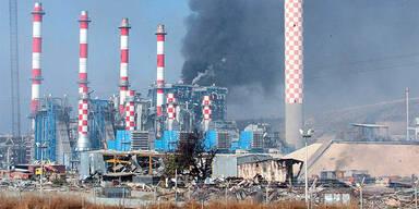 Zerstörtes E-Werk auf Zypern