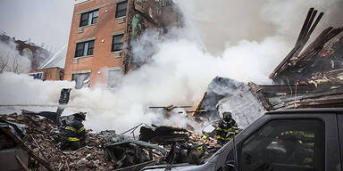 New York: Explosion - Häuser stürzten ein