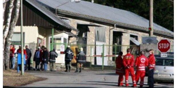 Drei Verletzte nach Explosion in Sprengstoffwerk