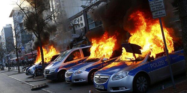 Ausschreitungen bei Blockupy-Protesten