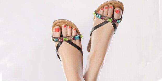 So werden Ihre Füße sandalentauglich