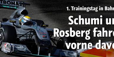Mercedes dominiert ersten Trainingstag
