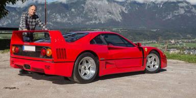 Gerhard Berger verkauft seinen Ferrari F40