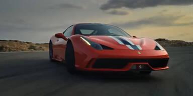 Video zeigt den Ferrari 458 Speciale in Fahrt