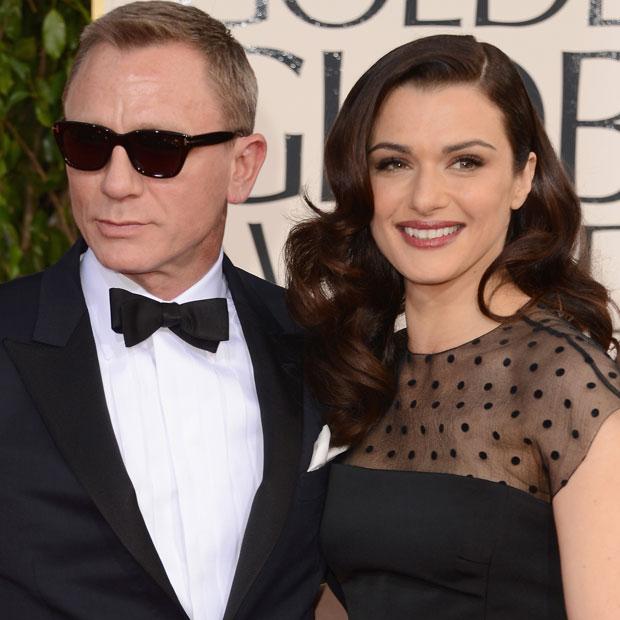 Daniel Craig mit seiner Ehefrau Rachel Weisz.