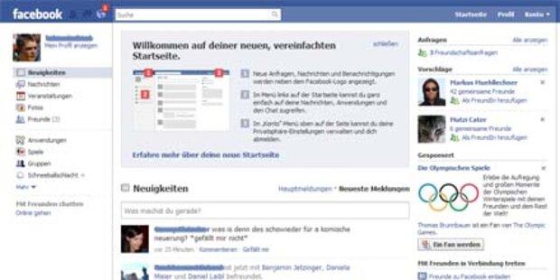 Facebook erscheint im neuen Outfit