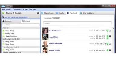 Videochat- & SMS- Funktion für Facebook