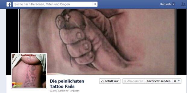 Facebook-Seite zeigt peinlichste Tattoos