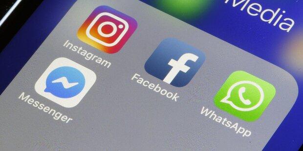 Facebook & Co. großteils wieder online