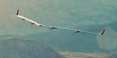 Facebook-Drohne wegen Wind abgestürzt