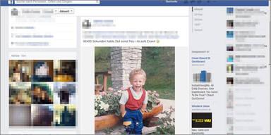 Kinderfoto-Wette ist neuer Facebook-Hype