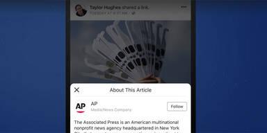 """Facebook testet neuen """"Kontext""""-Button"""