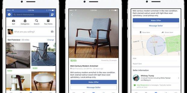 Facebook bringt eBay-Gegner nach Österreich