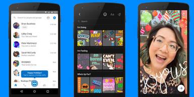 Facebook-App jetzt mit Snapchat-Features