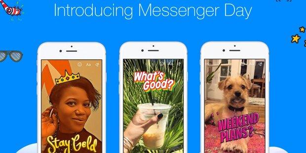 Facebook Messenger mit Snapchat-Funktion