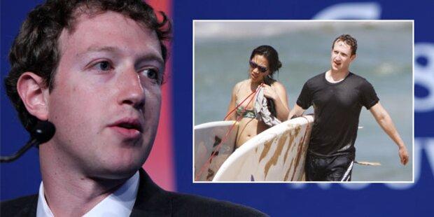 Mark Zuckerberg surft auf Hawaii