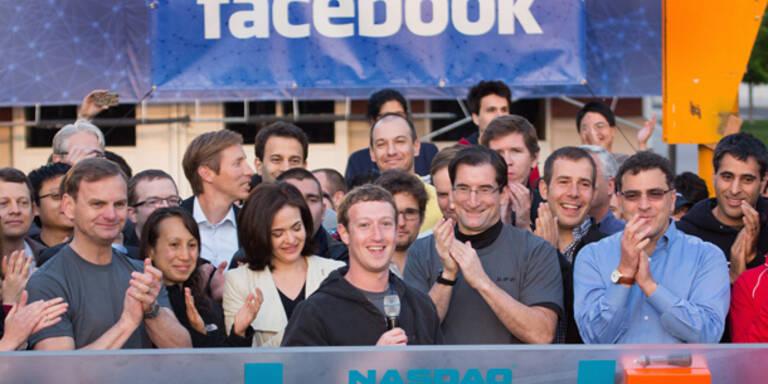 Facebook startet mit Börse-Achterbahn