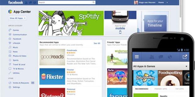 Facebook startet eigenes App Center