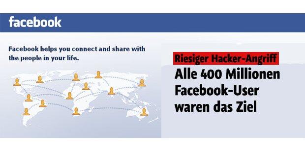 Hacker: 400 Mio. Facebook-User betroffen