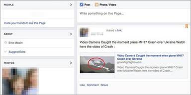 Facebook-Betrug mit MH17-Opfern
