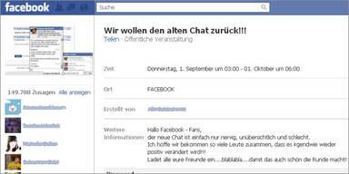 Facebook: User-Aufstand gegen neuen Chat