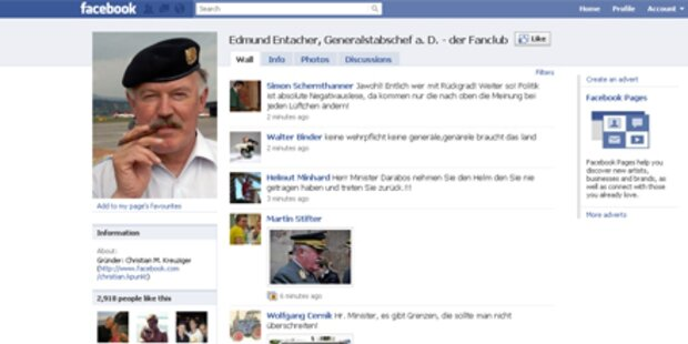 Entacher wird Facebook-Star
