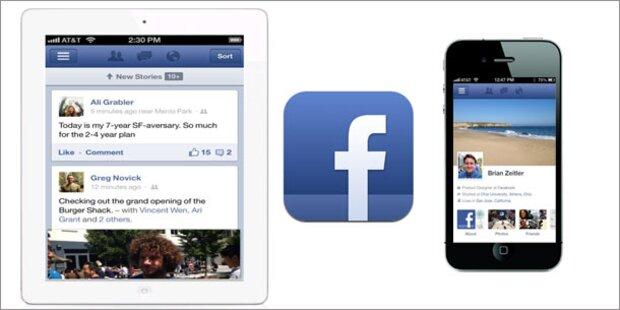 Facebook bringt neue iPhone- und iPad-App